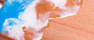 Разделочная доска с эпоксидной смолой с эффектом океана мастер класс